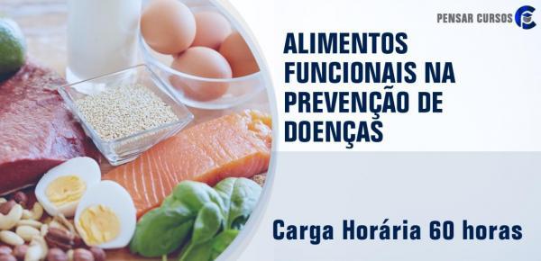 Saiba mais sobre o curso Alimentos Funcionais na Prevenção de Doenças