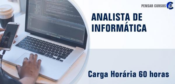 Saiba mais sobre o curso Analista de Informática