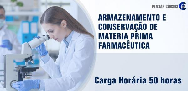 Saiba mais sobre o curso Armazenamento e Conservação de Matéria Prima Farmacêutica