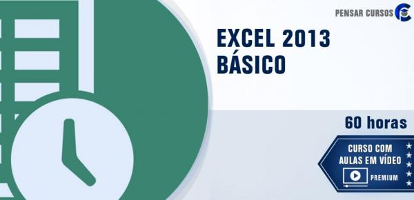 Saiba mais sobre o curso EXCEL 2013 Básico