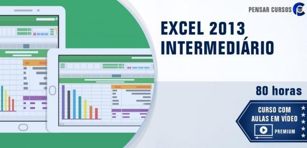 Saiba mais sobre o curso EXCEL 2013 Intermediário