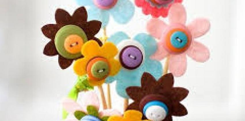 Flores Artesanais para Festas Infantis