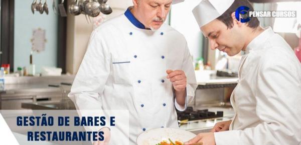 Saiba mais sobre o curso Gestão de Bares e Restaurantes