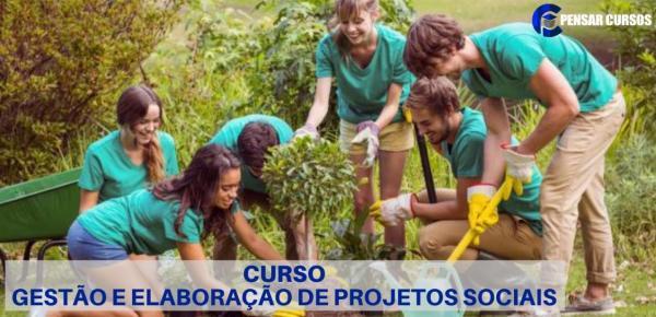 Saiba mais sobre o curso  Gestão e Elaboração de Projetos Sociais