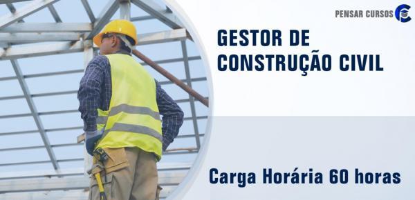 Saiba mais sobre o curso Gestor de Construção Civil