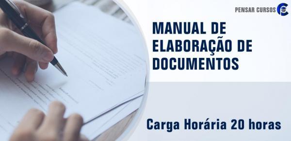 Saiba mais sobre o curso Manual de Elaboração de Documentos