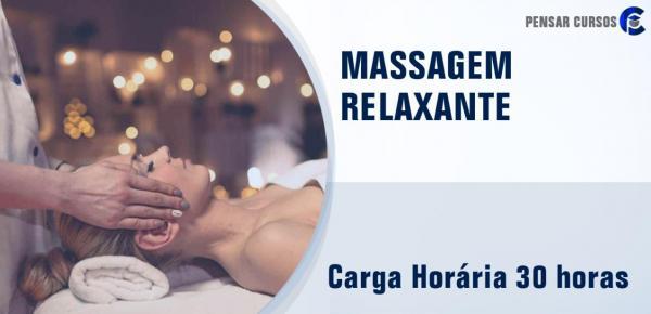Saiba mais sobre o curso Massagem Relaxante