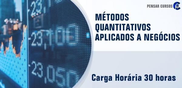 Saiba mais sobre o curso Métodos Quantitativos Aplicados a Negócios