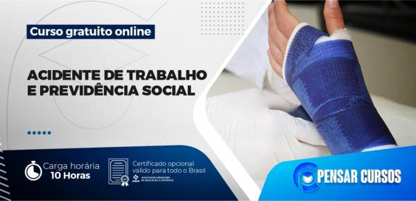 Saiba mais sobre o curso Minicurso Acidente de Trabalho e Previdência Social