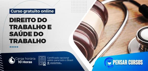 Saiba mais sobre o curso Minicurso Direito do Trabalho e Saúde do Trabalho