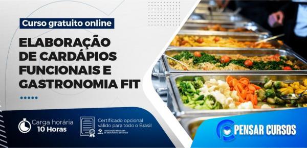 Saiba mais sobre o curso Minicurso Elaboração de Cardápios Funcionais e Gastronomia Fit