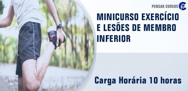 Saiba mais sobre o curso Minicurso Exercício e Lesões de Membro Inferior