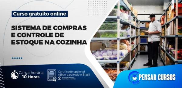 Saiba mais sobre o curso Minicurso Sistemas de Compras e Controle de Estoque na Cozinha